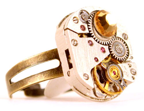 Picture of Gold Crystal Ring