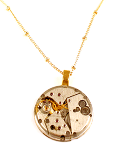 Picture of Goldtone Watchworks Necklace