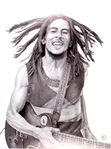 Picture of Bob Marley Print