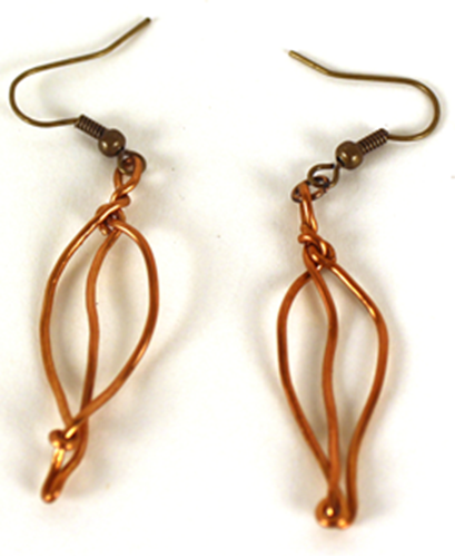 Picture of Leaves Earrings - Bronze