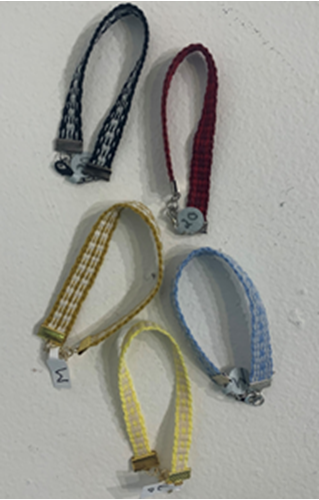Picture of Woven braclet with metal clasp