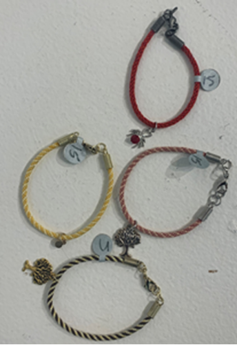 Picture of Woven Braclet with Jewel Detail